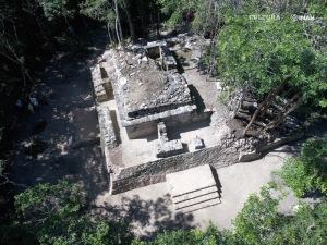 Vista aérea de la estructura 5. Foto: María José Con Uribe.